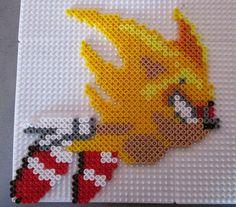 Super Sonic hama perler beads by Sebastien Herpin
