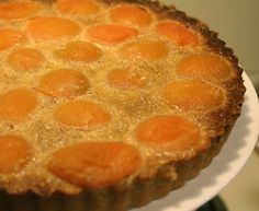 Years ago, in Paris, I had a dessert like this. It was SO good that I decided to try my hand at making one. This is the recipe I came up with. The family loved it! And it tastes a LOT like the version I had in Paris. Summer Desserts, Easy Desserts, Tart Recipes, Sweet Recipes, Almond Tart Recipe, Apricot Recipes, Yummy Cookies, Sweet Tooth, Deserts