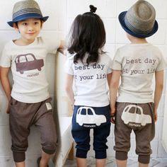 Aliexpress.com : Buy 2014 summer car boys clothing girls clothing baby child short sleeve set tz 0660 on Kids Fashion Clothing - Worldwide W...