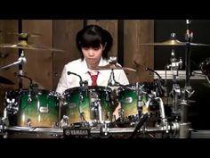 ▶ Best 14 yr old FEMALE drummer in the world, kills Yamaha drum kit! SENRI KAWAGUCHI! - YouTube