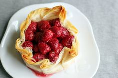 brie phyllo torte with raspberries from @This Week for Dinner