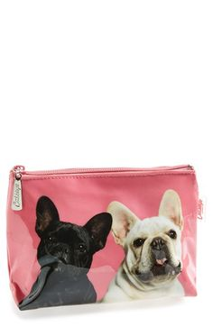 Catseye London 'Small Frenchie Love' Cosmetics Case available at #Nordstrom OMG ♡♡♡ L♡VE