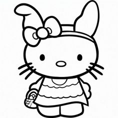 106 Best Coloring Pages Hello Kitty Images On Pinterest