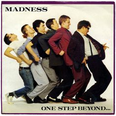 One Step Beyond. is the 1979 debut album by the British ska group Madness, bought it loved it Iconic Album Covers, Greatest Album Covers, Classic Album Covers, Music Album Covers, Music Albums, Lps, Eighties Music, Ska Music, Mundo Musical