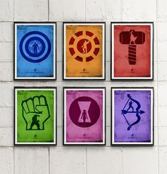 Avengers Minimalist Movie Poster Set / Thor, Captain America, Iron Man, Hulk etc #Minimalism