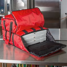 Deliver pizza and sides with the new ServIt Dual Compartment Heavy-Duty Insulated Pizza Delivery Bag!
