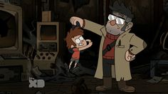My favorite thing about this gif is that Dipper tried to left hook Ford when he thought he was possessed.