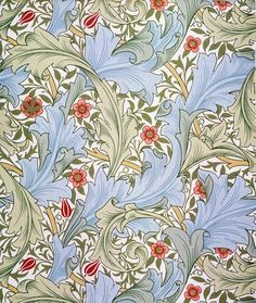 Granville wallpaper, by William Morris (1834-96). Block printed. England, 19th century.