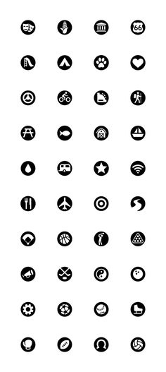 Tourism and Sports Icons by Danny Harms, via Behance