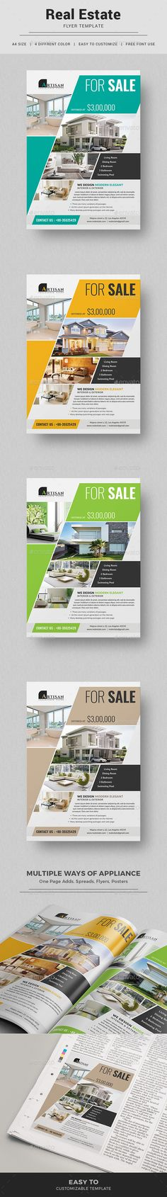Real Estate Flyer Template PSD. Download here: https://graphicriver.net/item/real-estate-flyer/17495508?ref=ksioks