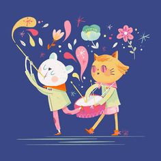Let's fun! on Behance Character Concept, Character Art, Concept Art, Tweety, Art Drawings, Digital Art, Behance, Let It Be, Cats
