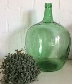 Milk & Cream Brocante green glass