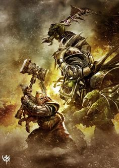 Dwarf Ironbreaker vs Black Orc