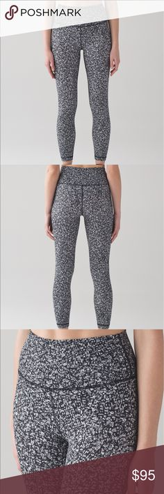 Lululemon wunder under hi rise 7/8 right. Size 8🖤 Lululemon wunder under hi rise 7/8 tights. Size 8. Black and white and grey daisy dust alpine white black pattern. Super comfy! NWOT. Only worn once to try on! lululemon athletica Pants Leggings