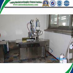 Rotary aerosol filling machine     More: https://www.aerosolmachinery.com/sale/rotary-aerosol-filling-machine.html