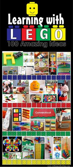 Learning with Lego - 100 Amazing Ideas covering Science, Math, Alpahbet, Language Arts, Preschool and more for kids of all ages