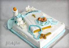 Boys First Communion Cakes, Baby Boy Birthday Cake, Christening Cake Boy, Baby Boy Baptism, Bible Cake, Elegant Birthday Cakes, Cupcakes For Boys, Cake Pictures, Girl Cakes