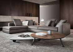 The style of the furniture should match the whole interior design. Design by Minotti.