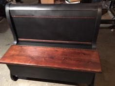 My friends at The Heritage Company, an architectural salvage/ antique store in downtown Kalamazoo did it again. Instead of passing on a lonesome sleigh style he… Downtown Kalamazoo, Headboard Benches, Bed Bench, Diy Furniture, Furniture Design, Handmade Furniture, Plywood Furniture, Chair Design, Furniture