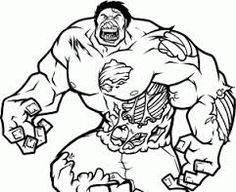 Image result for hulk drawings easy