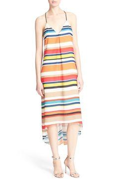 Alice + Olivia 'Cortes' Stripe Midi Dress