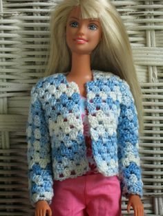 Haven Cottage Crafts: V-Stitch Cardigan for Barbie, pattern