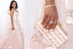 Kerry Washington - Kerry Washington's lacy gown was a vision on the red carpet—as was her matching lacy, nail art manicure! Celebrity Nails, Kerry Washington, Strong Girls, Celebs, Celebrities, Mani Pedi, Formal Dresses, Wedding Dresses, Nail Art