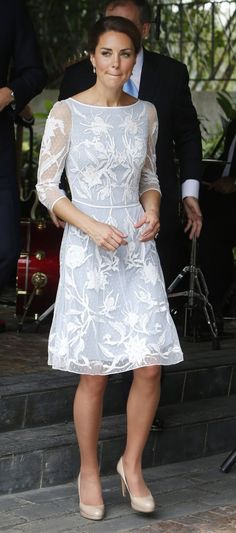 Kate Middleton aka Duchess of Cambridge at Diamond Jubilee Tea Party hosted by British High Commissioner in Malaysia during Royal Tour. September 14, 2012.