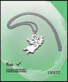 Axcesi 1303TZ Angel stainless steel pendant24x19mm   by Axcesi