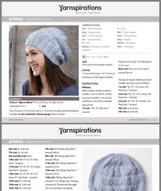 Free Knitting Patterns For Women, Beginner Knitting Patterns, Easy Knitting Patterns, Crochet Patterns, Loom Knit Hat, Loom Knitting, Knitted Hats, Beanie Pattern, Knit Or Crochet