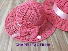O Pălarie Spectaculoasă Ce Poate Fi Făcu - Diy Crafts - Marecipe Crochet Hat With Brim, Crochet Summer Hats, Crochet Hat For Women, All Free Crochet, Crochet Baby Hats, Baby Blanket Crochet, Baby Knitting, Crochet Baby Dress Pattern, Crochet Cap
