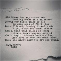 Typed poem @ptberkeywords