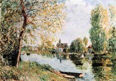 Alfred Sisley - Spring in Moret-sur-