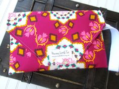 Red Floral Diaper Clutch  Diaper Changing Pad by PreciousLittleTot, $45.99