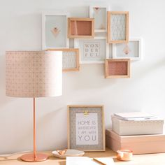 QUEENS copper-coloured metal lamp with shade featuring motifs H 54 cm Teen Room Decor, Diy Room Decor, Bedroom Decor, Unique Lamps, Little Girl Rooms, Room Themes, New Room, Home Decor Accessories, Interior Design Living Room