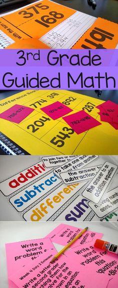 3rd Grade Guided Math -15 units -year long resource
