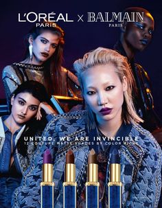 L'Oreal Paris & Balmain Up the Chic Faktor mit neuem Lippenstift Collab - langeshaar Balmain Collection, Collection 2017, Balmain Paris, Campaign Fashion, Beauty Companies, Latest Fashion Design, Models Makeup, L'oréal Paris, Fashion Mode