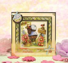 Return to Patchwork Forest by Hunkydory Crafts. Card made using 'Amongst the Roses' topper set Hunkydory Crafts, Great Tit, Luxury Card, Card Making Supplies, Pretty Cards, Little Books, Cardmaking, Wildlife, Happiness