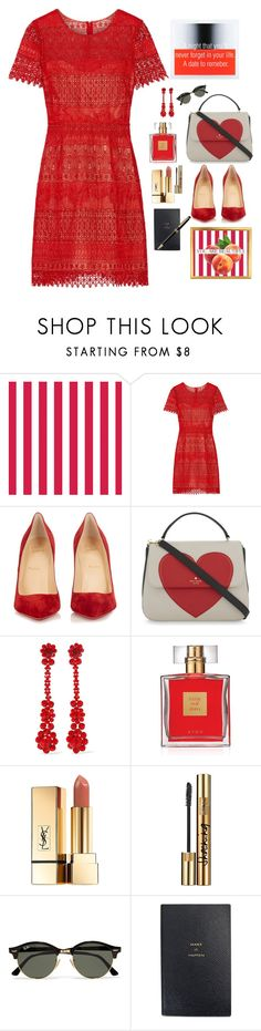 """""""Dates of Days"""" by marcusv ❤ liked on Polyvore featuring Notte by Marchesa, Christian Louboutin, Kate Spade, Simone Rocha, Avon, Yves Saint Laurent, Ray-Ban, Smythson and Montblanc"""