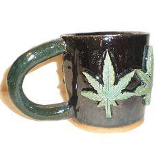 #Cannabis Cup 2  Handbuilt ceramic coffee mug by aberrantceramics, $34.00