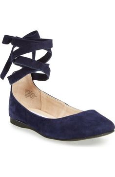 Steve Madden 'Bloome' Wraparound Tie Flat (Women) available at #Nordstrom
