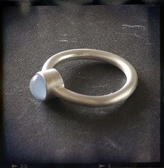 Chalcedony Silver Ring by Joanna Morgan Designs