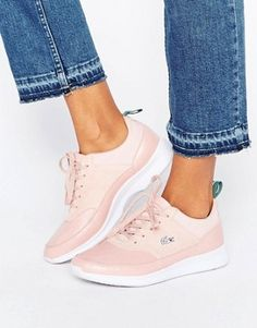 Buy Lacoste Joggeur Premium Leather Trainers In Pink at ASOS. With free delivery and return options (Ts&Cs apply), online shopping has never been so easy. Get the latest trends with ASOS now. Lacoste Sneakers, Pink Sneakers, New Sneakers, Air Max Sneakers, Pink Shoes, Basket Sport, Leather Trainers, Leather Sneakers, Stephen Curry Shoes