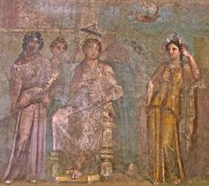 Fresco of Dido and Africa, from Atrium 2 of the House of Meleager in Pompeii, first century CE