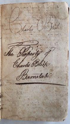 Charles Blish Barnstable, Arithmetic Book 1805 By Daniel Adams, Salmon Wilder