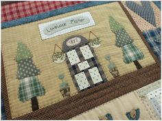Lancaster Quilt 6 Lancaster, Country Quilts, Embroidery Applique, Creations, Patches, Quilting, Trees, Houses, Children