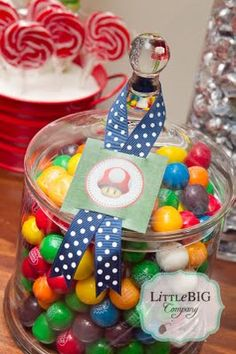 Super Mario Party by Little Big Company I like the ribbon/card combo - nice touch!