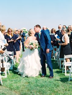 Outdoor Ceremony + Tented Reception by a Tranquil River in Maryland - Inside Weddings Tent Reception, Outdoor Ceremony, Strictly Weddings, Floral Event Design, Maryland, Bride Groom, Kiss, Wedding Day, Wedding Photography