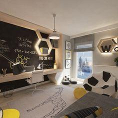 Modern Kids bedroom by living box - Modern Modern Kids Bedroom, Boys Bedroom Decor, Ikea Bedroom, Diy Zimmer, Teenage Room, Living Room Green, Kids Room Design, Room Paint, Boy Room