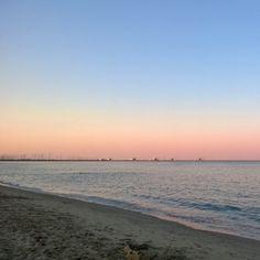 Tramonto in spiaggia #marinadiravenna - Instagram by pipienriccia
